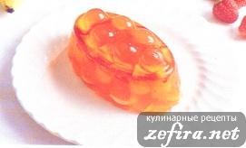 Апельсиновое желе с фруктами