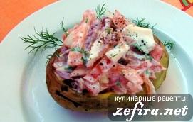 Картофельная лодочка с салатом