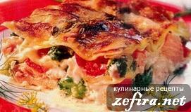 Рецепт лазаньи с лососем