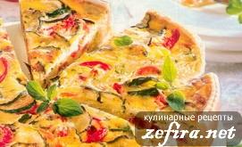 Рецепт пирога с цуккини и помидорами