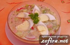 Рецепт настоящей русской окрошки