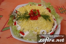 "Салат ""Морское дно"""