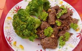Мясо в горчичной панировке