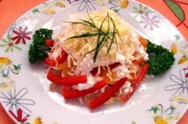 Рецепт салата из курицы и сладкого перца «Райская птица»