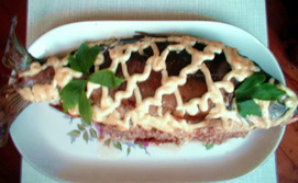 Карп, фаршированный гречкой с грибами
