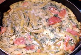 Вкусный рецепт омлета со стручковой фасолью