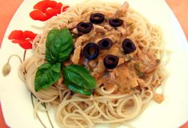Спагетти с быстрым соусом