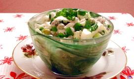 Рецепт салат на ужин из яиц и зеленого горошка