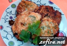 Рецепт блинчиков или оладушков из кабачков