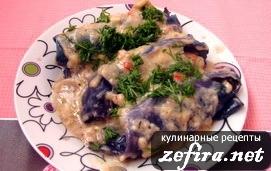 Рецепт вкусных капустных трубочек с острым ореховым соусом