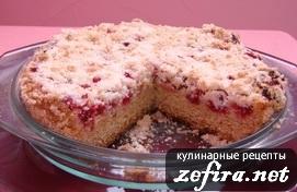 Рецепт пирога с клюквой «Клюковка»