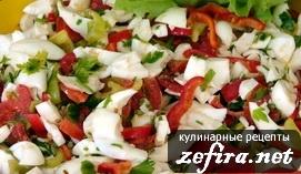 Салат «Последний вздох лета» с моцареллой и овощами