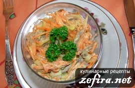Салат «Зимний» из овощей и мяса