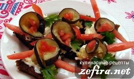 Гренки ароматные из черного хлеба с баклажанами