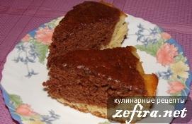 """Рецепт шоколадно-ванильного кекса """"День-ночь"""""""