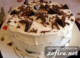Рецепт торта «Мишка на севере» со сметанным кремом