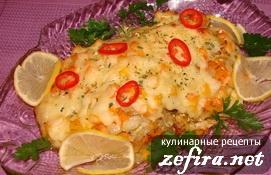 Рецепт рыбного филе с овощами