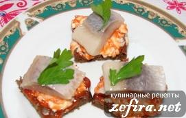 """Бутерброды с селедкой """"Холостяцкие"""""""