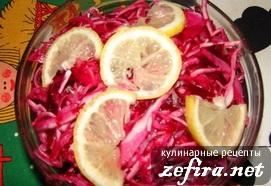 Рецепт диетического салата из свежей капусты со свеклой
