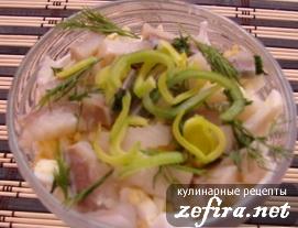 """Рецепт салата с селедкой и мясом """"Рассоле"""""""