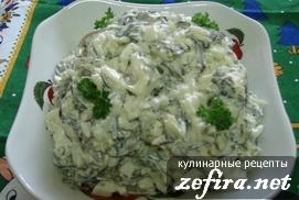 """Легкий салат с морской капустой """"Тина морская"""""""