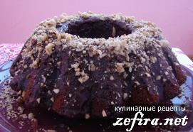 Шоколадный кекс с орехами и цуккатами
