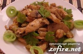 "Куриное филе с грибами ""По-королевски"""