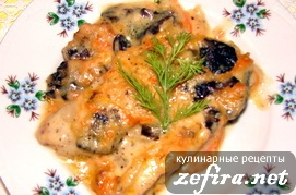 Рыба по-парижски в сливочно-овощном соусе