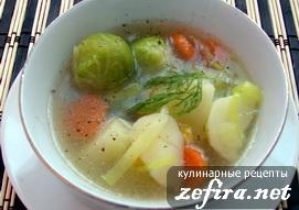 Суп овощной с брюссельской капустой