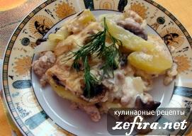 Картофельный пирог-запеканка с мясным фаршем и овощами