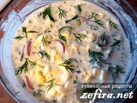 Холодный летний суп на кефире