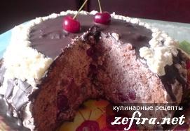 пьяная вишня торт рецепты с фото со сметанным кремом