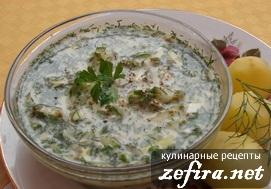 Холодный щавелевый суп - летний рецепт