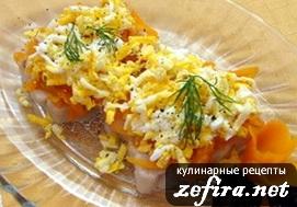 """Рыба """"По-польски"""" с морковью и яйцами"""