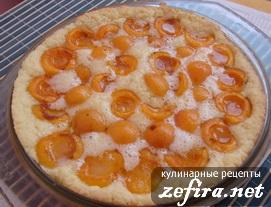 "Пирог из песочного теста с абрикосами ""Объедение"""