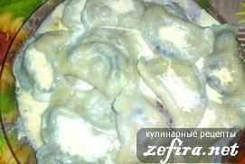 Рецепт вареников с черникой из Украины