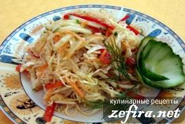 """Рецепт салата из свежей капусты """"Капуста по-корейски"""""""