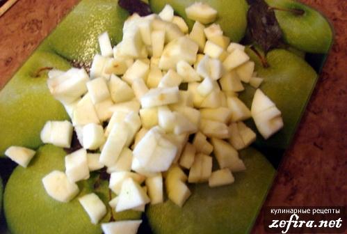 Приготовление овсяной каши с яблоками - 4 этап