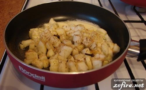 Приготовление овсяной каши с яблоками - 5 этап