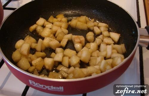 Приготовление овсяной каши с яблоками - 6 этап