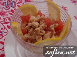 Рецепт салата из курицы с грейпфрутом