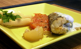 Рыба в фольге с нежным укропным соусом