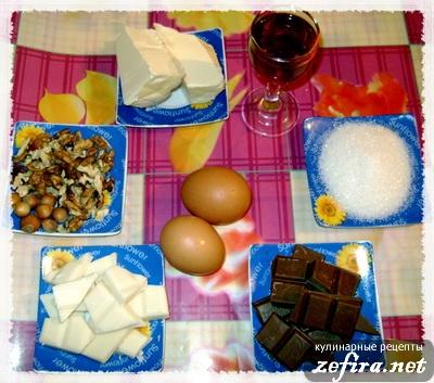 """Ингредиенты для рецепта десерта """"Шоколадный бархат"""""""