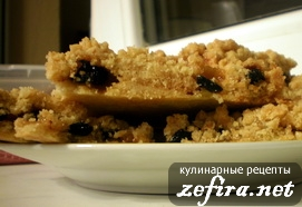 Рецепт тертого пирога - пирог в разрезе