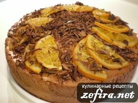 """Торт """"Апельсиново-шоколадный мусс"""""""