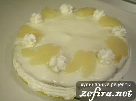 Торт «Рай» с банановым суфле