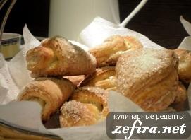 Творожные ракушки с сахаром