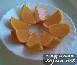 """Желе в апельсине """"Оранжевое настроение"""""""