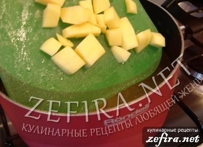 Вкусный картофельный суп-пюре с цветной капустой и говядиной - 2 этап