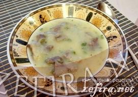 Вкусный картофельный суп-пюре с цветной капустой и говядиной